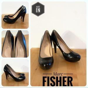 Marc Fisher Black Leather Pumps Size 5.5M